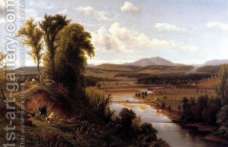 Max Eglau: Connecticut River Valley, Vermont - reproduction oil painting