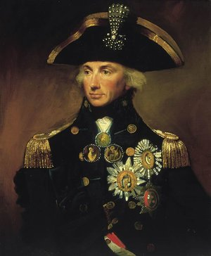Famous paintings of Portraits: Rear-Admiral Sir Horatio Nelson, 1758-1805