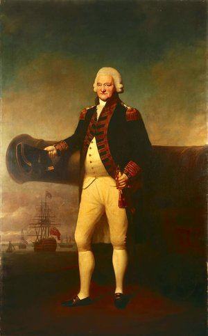 Reproduction oil paintings - Lemuel-Francis Abbott - Sir Peter Parker Bt, 1721-1811, Admiral of the Fleet