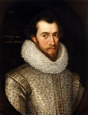 Famous paintings of Men: Portrait Of A Nobleman, Said To Be Robert, Earl Of Essex