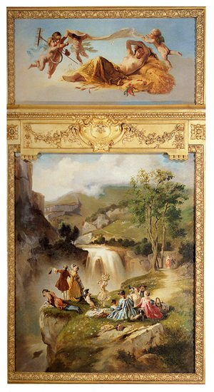 Famous paintings of Seasons: Allegory Of Summer: The Goddess Ceres Surrounded By Putti (or A Picnic Near The Waterfall)