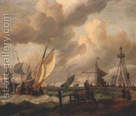 Shipping by Abraham Jansz Storck - Reproduction Oil Painting