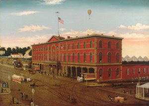 Famous paintings of Trams: The Third Avenue Railroad Depot