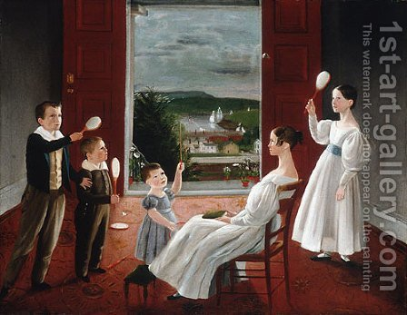 The Children of Nathan Starr by Ambrose Andrews - Reproduction Oil Painting