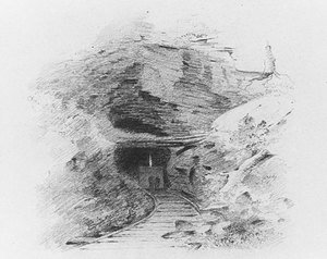Famous paintings of Caves: Entrance to a Coal Mine in the Valley of Wyoming, Pennsylvania (Entrance to a Coal Mine, Susquehanna)