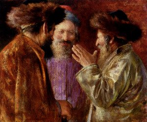 Reproduction oil paintings - Isaac Snowman - Three Rabbis Of Jerusalem