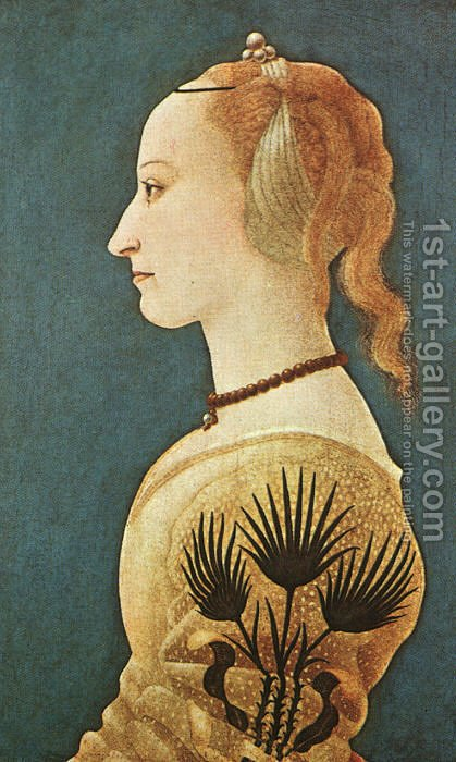 Portrait of a Lady in Yellow by Alessio Baldovinetti - Reproduction Oil Painting