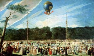 The Ascent of the Montgolfier Balloon at Aranjuez, c.1764