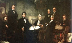 Famous paintings of Men: The First Reading of the Emancipation Proclamation