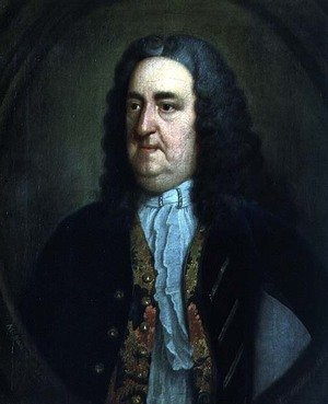 Famous paintings of Men: Portrait of Richard 'Beau' Nash (1674-1761) English gamester and social arbiter