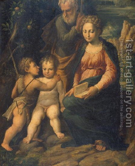 The Holy Family by Girolamo da Carpi - Reproduction Oil Painting