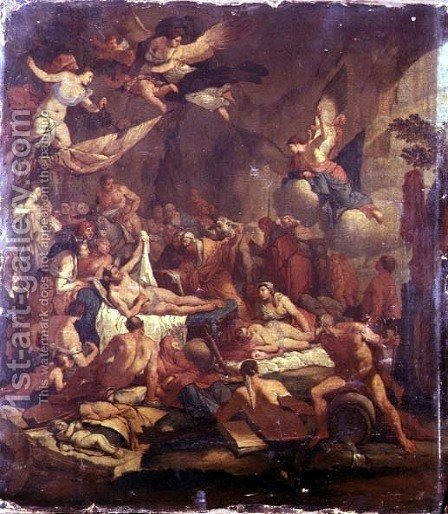 The Kingdom of Hypnos by Giulio Carpioni - Reproduction Oil Painting