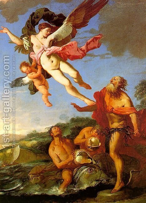 Huge version of Neptune Pursuing Coronis, 1665-70