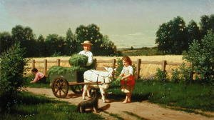 Reproduction oil paintings - Samuel S. Carr - The Goat Cart, 1882
