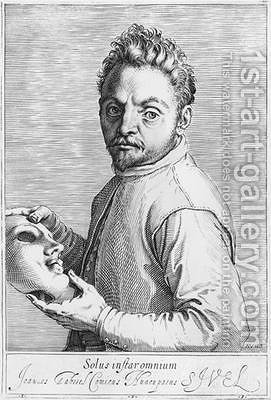 The Actor Jean Gabriel Swel by Agostino Carracci - Reproduction Oil Painting