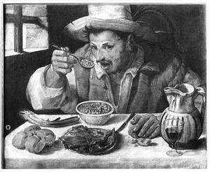 Famous paintings of Bread: The Bean Eater, c.1583-84