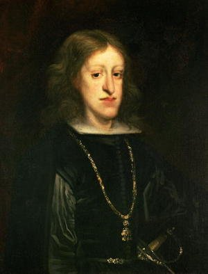 Famous paintings of Men: Charles II (1661-1700) of Spain