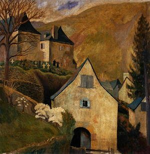 Famous paintings of Cemeteries: Mountain Church, Larrau