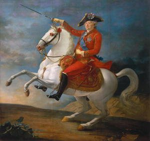 Famous paintings of Men: Equestrian Portrait of Louis XVI (1754-93) 1791