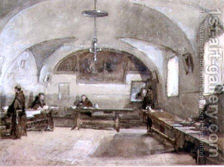 Interior of the Capuchin Convent at Albano by Hugh Carter - Reproduction Oil Painting