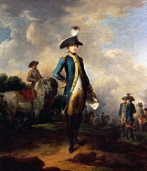 Famous paintings of Men: Marquis de Lafayette (1757-1834), c.1781-85
