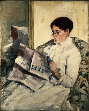 Reproduction oil paintings - Mary Cassatt - Reading Le Figaro, 1878