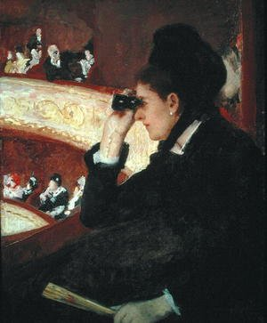 Reproduction oil paintings - Mary Cassatt - In the Loge, 1879