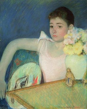 Reproduction oil paintings - Mary Cassatt - Girl in Pink with a Fan, c.1889