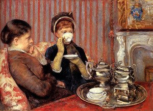 Reproduction oil paintings - Mary Cassatt - The Tea, c.1880
