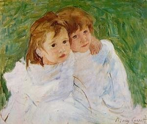 Mary Cassatt reproductions - The Sisters, c.1885