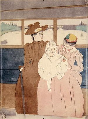 Famous paintings of Trams: In the Omnibus (The Tramway) 1891