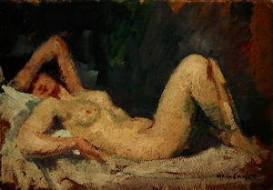 Neo-Classical painting reproductions: Reclining Nude