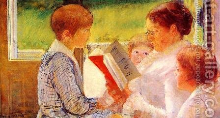 Mary Cassatt: Mrs Cassatt Reading to her Grandchildren, 1888 - reproduction oil painting