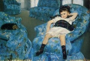 Neo-Classical painting reproductions: Little Girl in a Blue Armchair, 1878