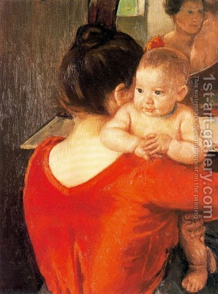 Mary Cassatt: Mother and Child, 1900 - reproduction oil painting