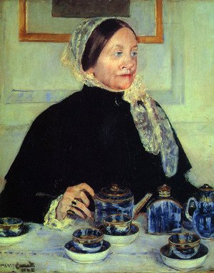 Famous paintings of Tea: Lady at the Tea Table, 1885