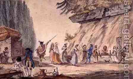 J. B. Cassini: Parody of a Procession for Mr Rongier, 1794 - reproduction oil painting