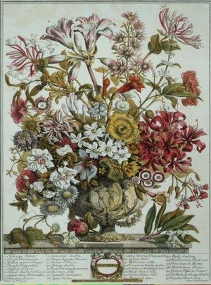 Naturalism painting reproductions: October, from 'Twelve Months of Flowers'