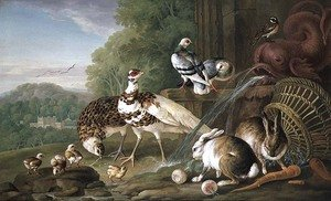 Naturalism painting reproductions: Birds and Rabbits