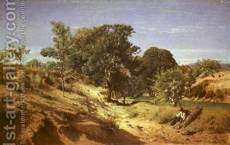 Rural Countryside near Lasalle by Alexandre Eugene Castelnau - Reproduction Oil Painting