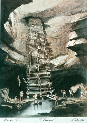 Famous paintings of Caves: The Abyss of Bolonchen, State of Campeche, Mexico, 1844