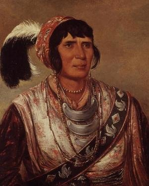 Romanticism painting reproductions: Portrait of Osceola (1804-38)