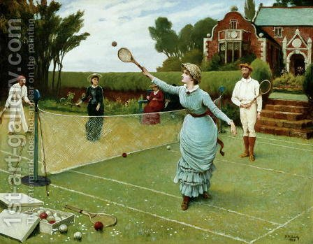 Tennis Players, 1885 by Horace Henry Cauty - Reproduction Oil Painting