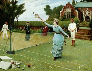 Famous paintings of Other: Tennis Players, 1885