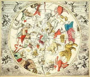 Reproduction oil paintings - Andreas Cellarius - Celestial Planisphere Showing the Signs of the Zodiac, from 'The Celestial Atlas, or The Harmony of the Universe'