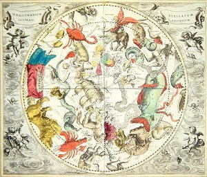 Reproduction oil paintings - Andreas Cellarius - Map of the Southern Hemisphere, from 'The Celestial Atlas, or The Harmony of the Universe' 1660