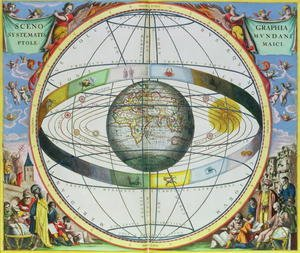 Reproduction oil paintings - Andreas Cellarius - Map of Christian Constellations, from 'The Celestial Atlas, or The Harmony of the Universe'