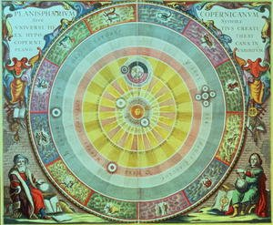 Reproduction oil paintings - Andreas Cellarius - The Copernican System,'Planisphaerium Copernicanum', c.1543, devised by Nicolaus Copernicus (1473-1543) from 'The Celestial Atlas, or the Harmony of the Universe'