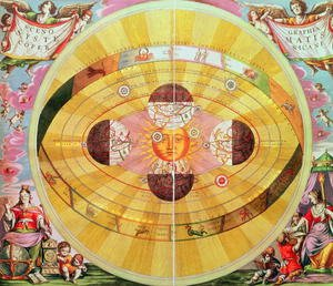 Reproduction oil paintings - Andreas Cellarius - Scenographia: Systematis Copernicani Astrological Chart, c.1543, devised by Nicolaus Copernicus (1473-1543) from 'The Celestial Atlas, or the Harmony of the Universe'