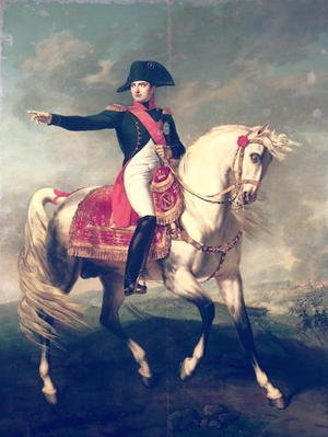 Famous paintings of Horses & Horse Riding: Equestrian Portrait of Napoleon I (1769-1821) 1810